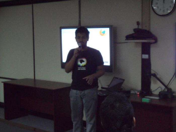 Me talking about mozilla in BRAC University, in 2012